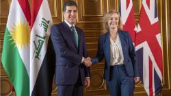 President Barzani meets with UK's top diplomat in London