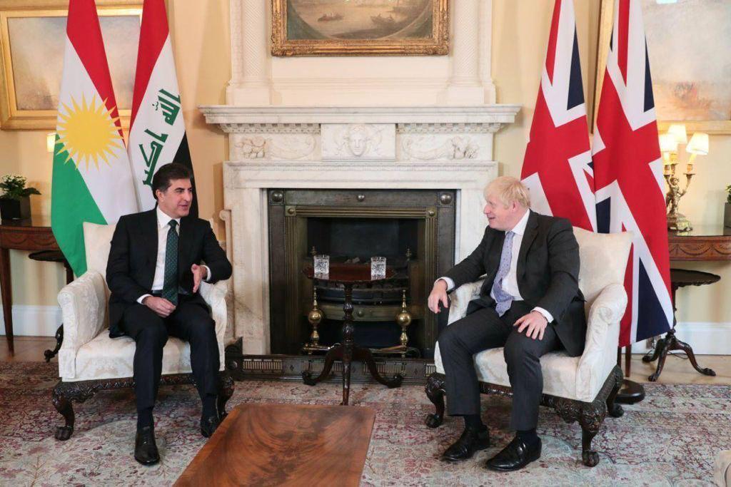 صور.. رئيس إقليم كوردستان يلتقي رئيس الوزراء البريطاني في لندن