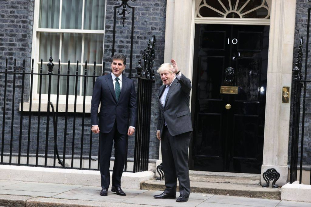 Pictures.. The President of the Kurdistan Region meets the British Prime Minister in London