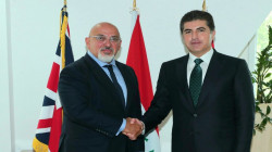 Barzani meets with the Kurdish minister in the British government