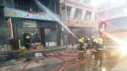 بابل.. الدفاع المدني يسيطر على حريق اندلع داخل بناية تجارية بـ 10 فرق اطفاء (صور)