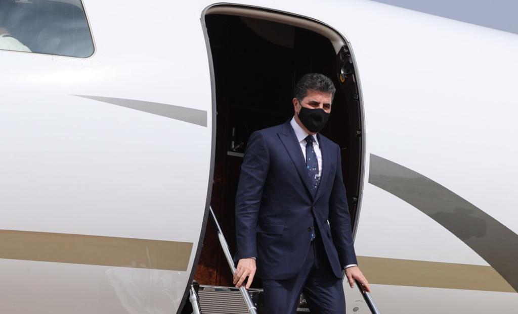 President Nechirvan Barzani arrives back in Erbil