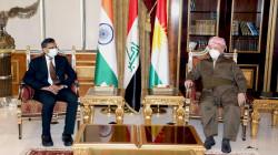 Masoud Barzani hosts the Indian ambassador to Iraq