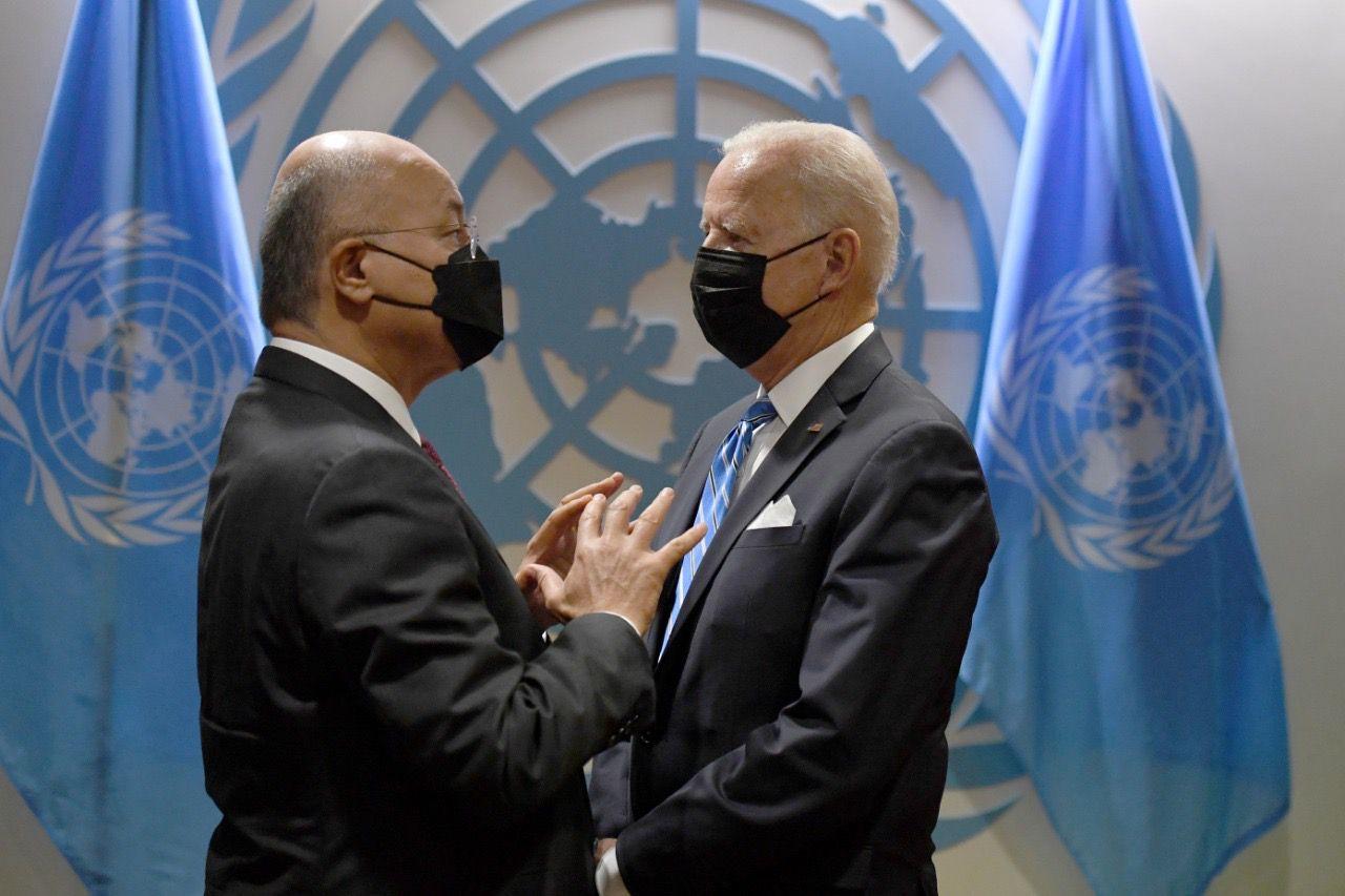 Iraq's President meets with Joe Biden in New York 1632257451616