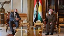 Kurdish leader Masoud Barzani meets with Iyad Allawi