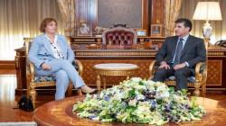 President Barzani meets the new head of the EU Liaison office-Erbil