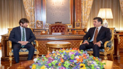"""Macron thanks Barzani for the """"warm welcome"""" he received in Erbil"""