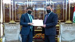 President Nechirvan Barzani receives a letter from President Emmanuel Macron