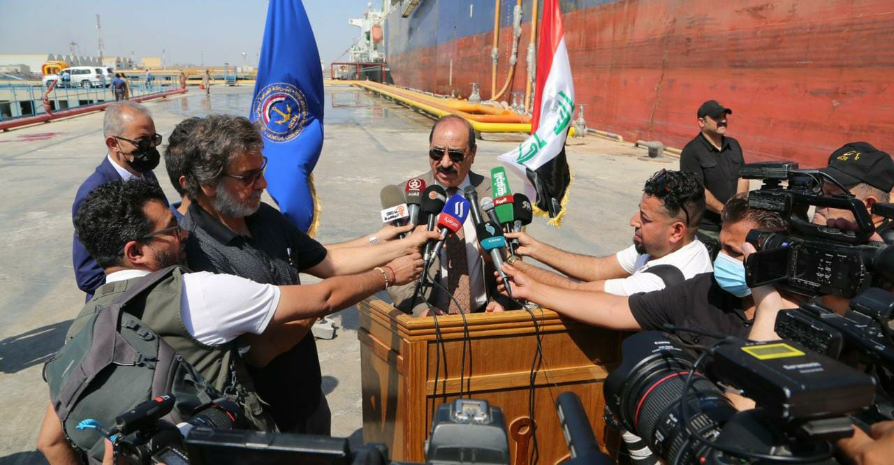 Iraq inaugurates a new berth at Khor Al-Zubair port for the export and import of petroleum products