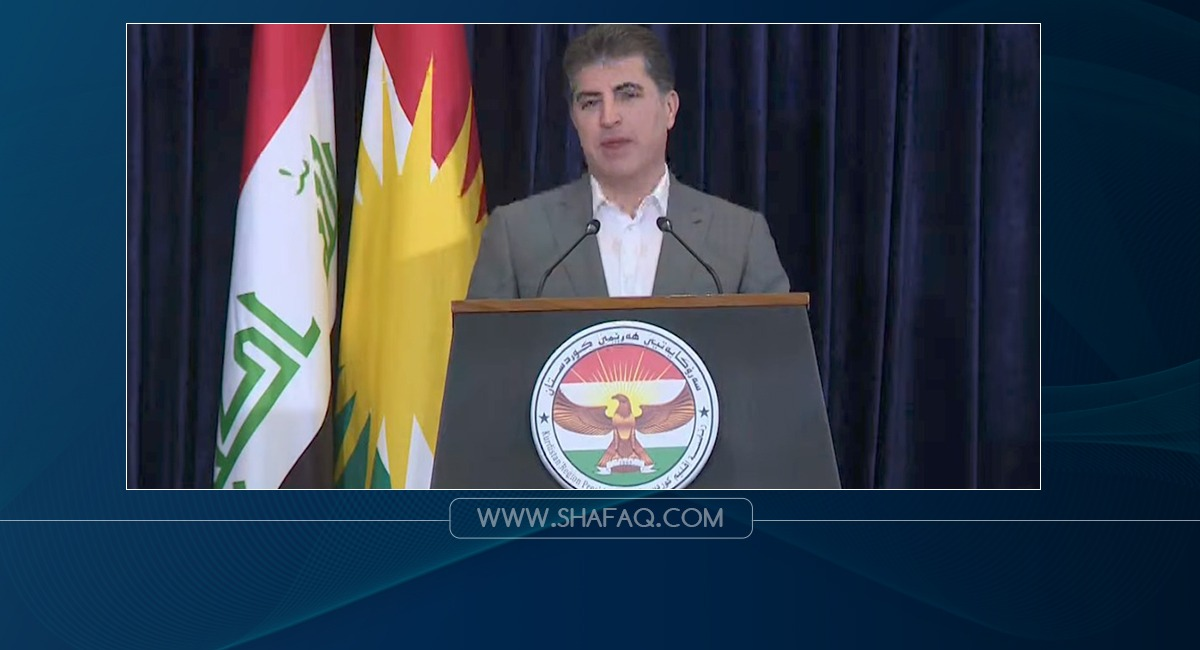 President Barzani addressing the Iraqis after casting his ballot: our message is fraternity and peace
