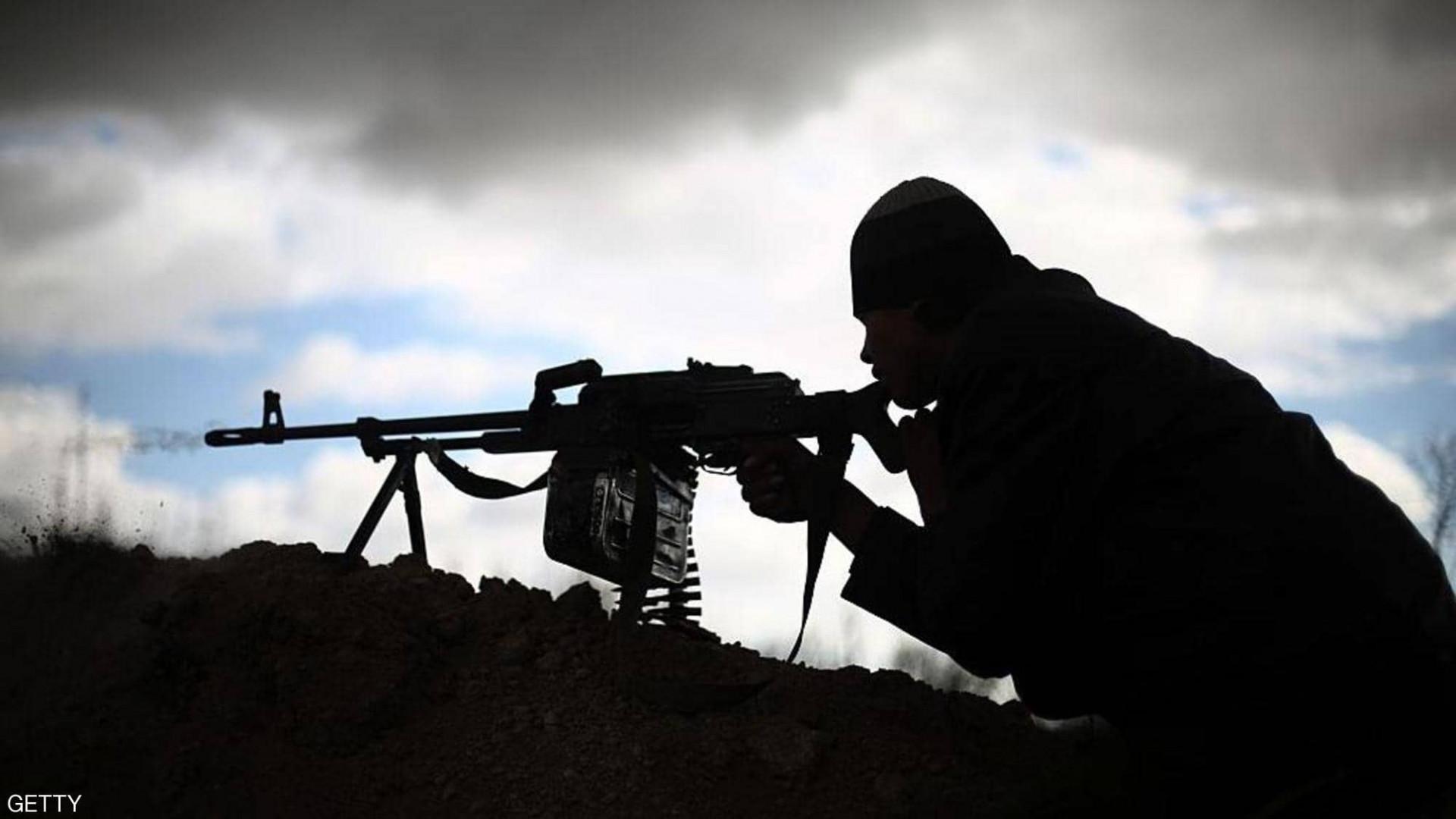 PMF member injured in an ISIS attack in Diyala