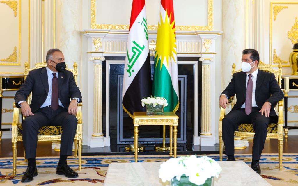 PM Masrour Barzani discusses the situation in Kirkuk with al-Kadhimi