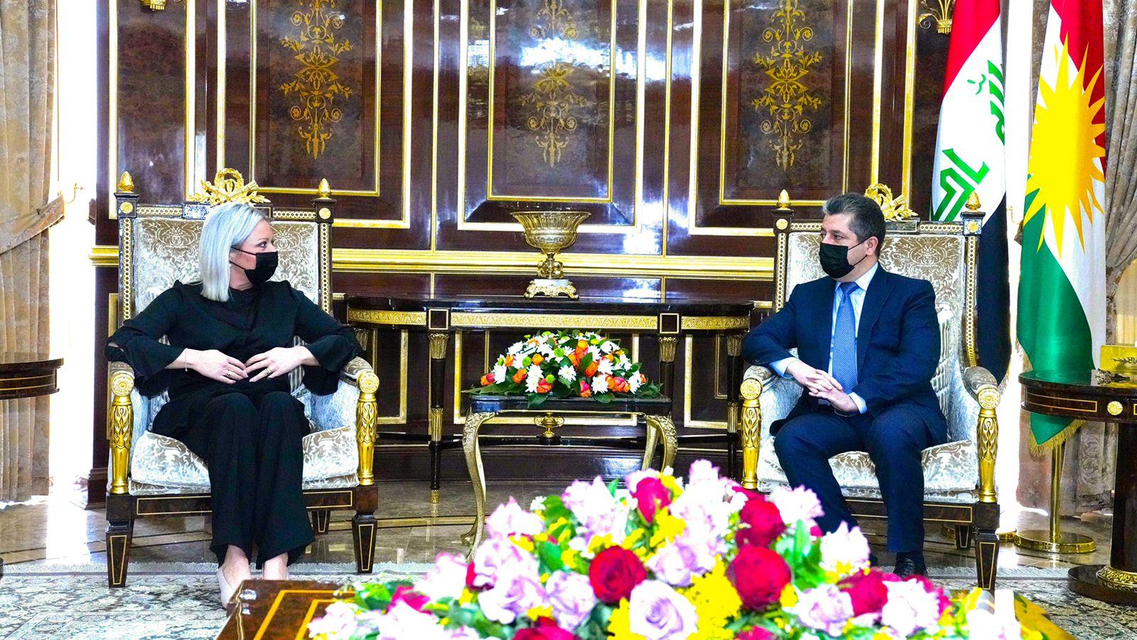بارزاني وبلاسخارت يؤكدان ضرورة تشكيل حكومة عراقية تخدم الجميع