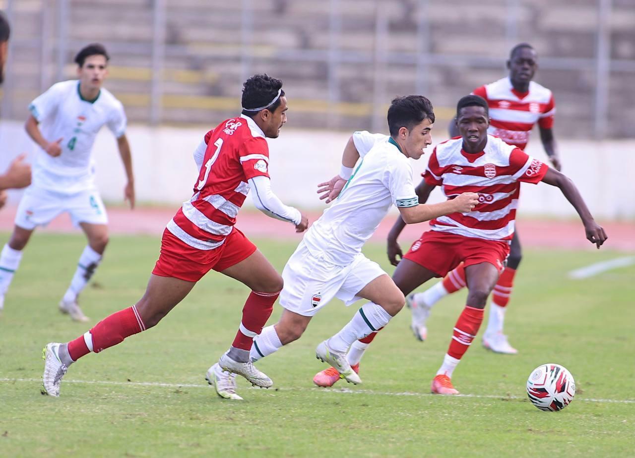 ودياً.. منتخب شباب العراق يخسر أمام رديف الإفريقي التونسي