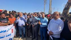 صور .. تظاهرتان جنوبي العراق أحداهما ضد شركة تركية والأخرى للمطالبة بالتعيين
