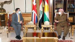Masoud Barzani and UK's ambassador commend the Iraqi election
