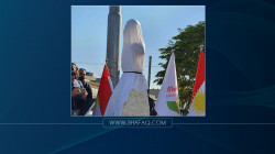 صور.. إزاحة الستار عن تمثال للسكرتير الأسبق للحزب الشيوعي الكوردستاني في السليمانية