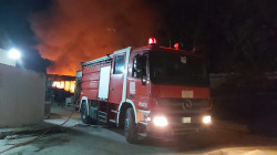 Six firefighting teams extinguish a massive fire in Baghdad University