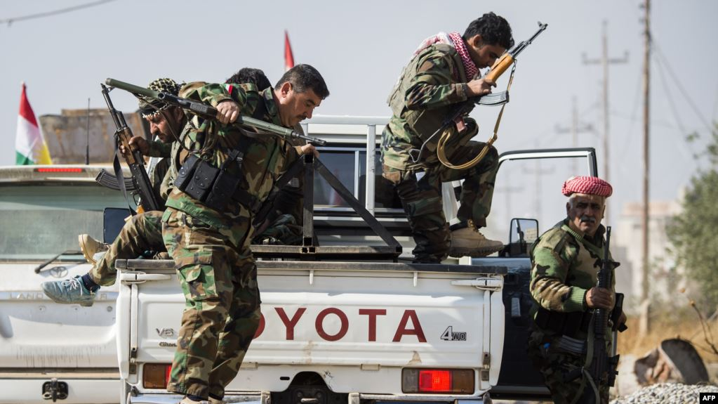 Peshmerga carries out a security operation against ISIS near Tuz Khurmato