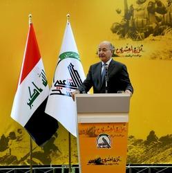 صالح: لا للحرب.. العراق قادر على الاسهام بحفظ الامن الاقليمي