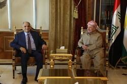 بارزاني يناقش مع المطلك آخر المتغيرات والمستجدات في العراق والمنطقة