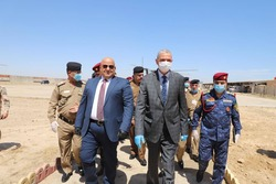 Minister of Interior arrives province witnessed ISIS activity