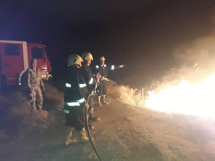 اخماد حريق على الشريط الحدودي مع ايران