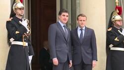 رئيس اقليم كوردستان يجتمع مع الرئيس الفرنسي في الإليزيه