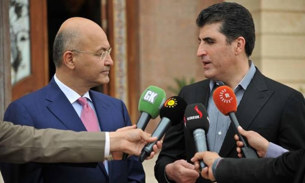 رئيس جمهورية العراق يصل اربيل لأول مرة منذ توليه منصبه