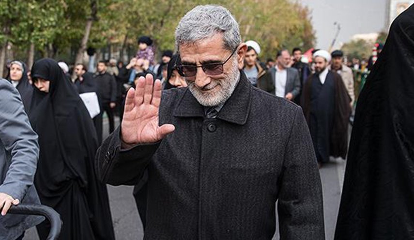 After the US announcement the commander of the Iranian Quds Force arrives in Baghdad on a secret visit
