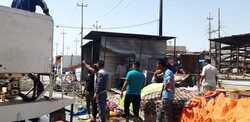 اندلاع حريق في سوق شعبية وسط البصرة