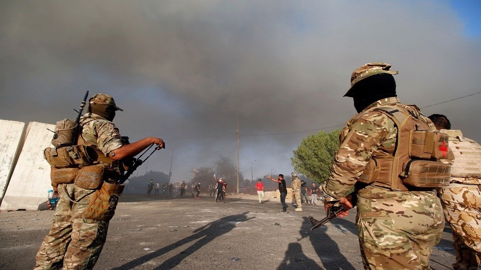 The security authorities confirm rockets landed inside the fortified Green Zone in central Baghdad
