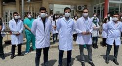 أطباء السلیمانیة یرفضون تسلم رواتبهم