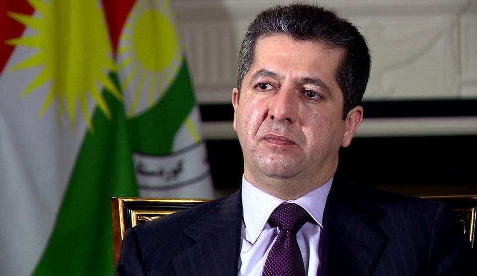 رئيس حكومة إقليم كوردستان يعزي الكاظمي