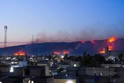 حريق يأتي على عشرات دوانم الحنطة غرب الموصل واصابة منتسب بالدفاع المدني