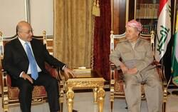 بارزاني وصالح يبحثان الحلول لملف أربيل – بغداد