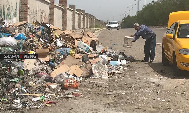 احصاء: اكثر من ثلث سكان العراق غير مشمولين بخدمة جمع النفايات