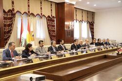 Kurdistan government meets the returning delegation from Baghdad