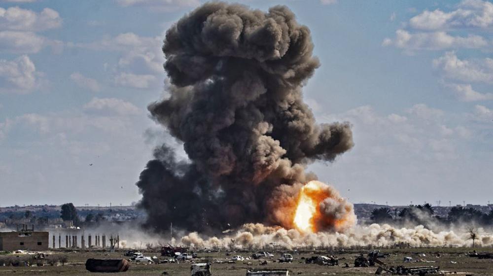 طائرات مجهولة تقصف مواقع مسلحين قرب الحدود العراقية