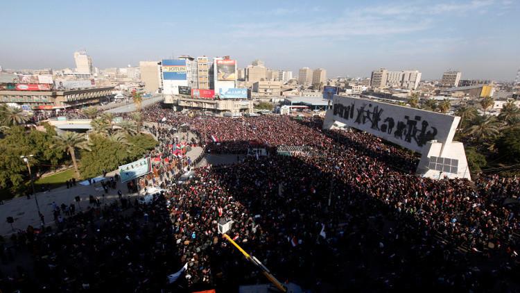 الصدريون يطلقون التظاهرات تنديدا بتصرفات الحكومة والبرلمان
