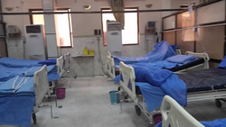 فيديو.. الأمطار تغرق مستشفى بمحافظة البصرة