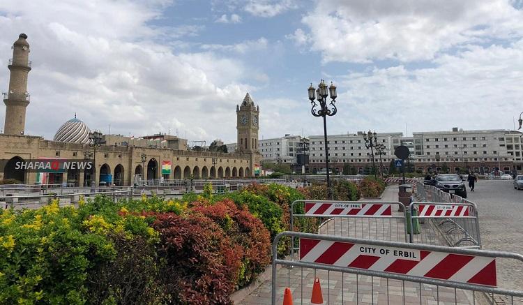 Erbil waves to tight curfew back again