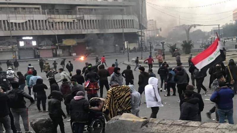اصابات بصفوف المتظاهرين في بغداد والناصرية