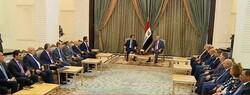 وفد حكومة اقليم كوردستان يجتمع مع الرئيس العراقي
