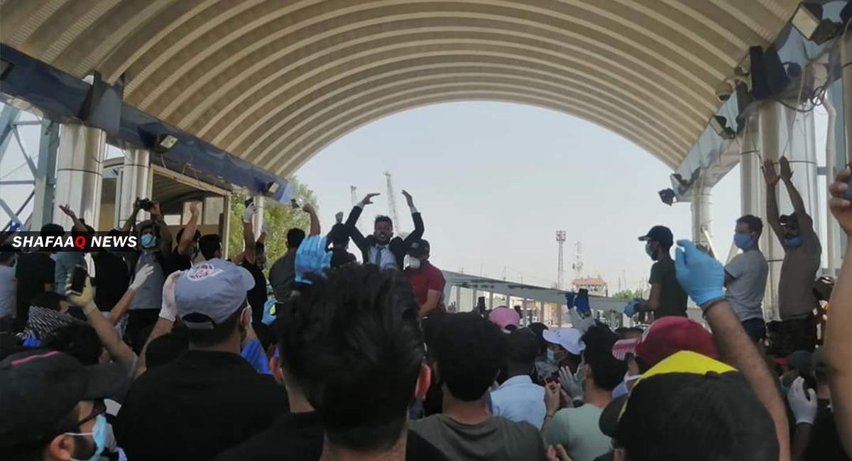مسيرة احتجاجية تجوب البصرة تنديدا بقانون المحكمة الاتحادية