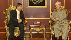 مسعود بارزاني يبحث مع التحالف الوطني ملفات تخص العراق وكوردستان