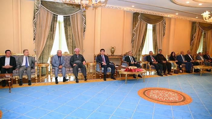 رئيس كوردستان لوفد من قيادات الديمقراطي: وحدة الصف تقوي مكانة الاقليم
