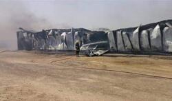 حريق كبير يلتهم حقول دواجن في محافظة الديوانية