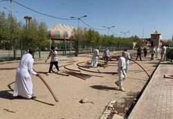 Rafha beneficiaries start a sit-in southern Iraq