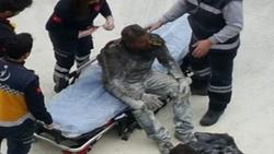 تركي يشعل النار في جسده أمام مبنى حكومي: أطفالي جائعون